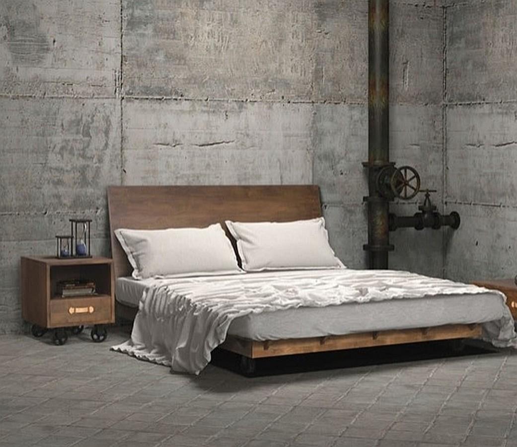 Промышленный стиль в спальне