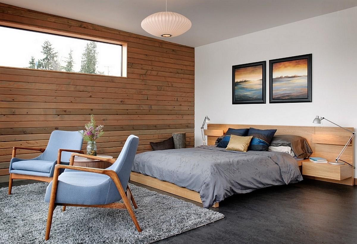 Более современная и уютная промышленная спальня