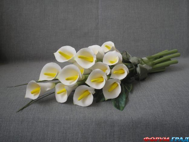 Цветы из глины своими руками фото