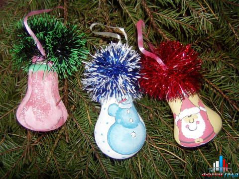 Сделать своими руками новогоднюю игрушку на елку
