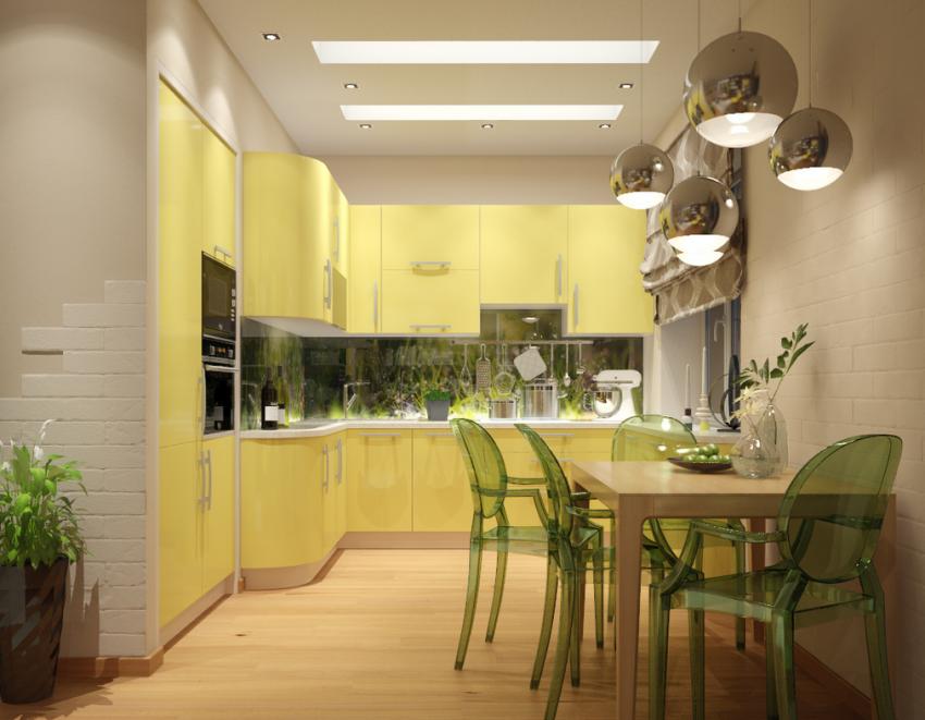 Moda Home Vintage Style Fresh Fruit in Yellow Kitchen