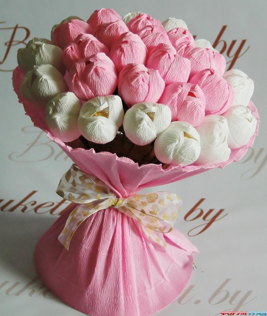 Цветы своими руками на подарок