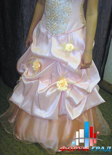 разноцветное свадебное платье2
