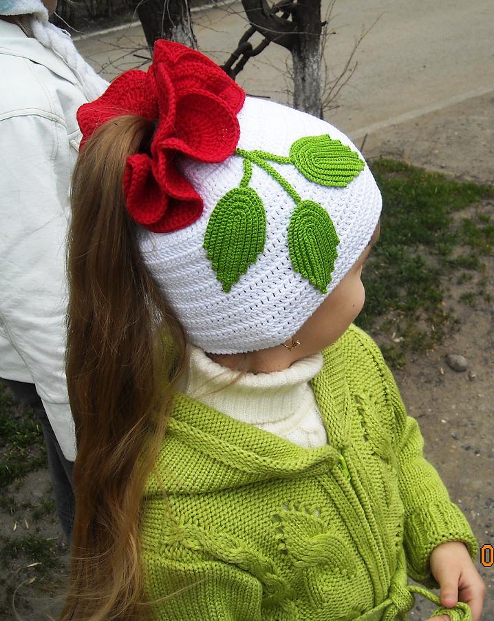 Вязание шапочки весна на девочек 874