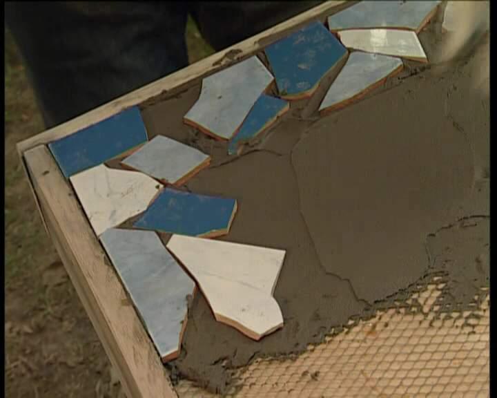 Стол из керамической плитки своими руками