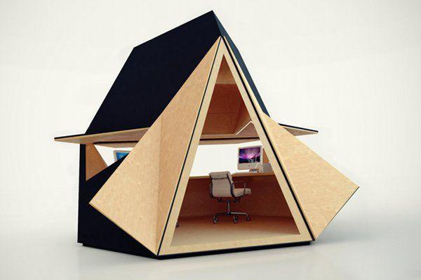 Необычный сборный офис Tetra-Shed