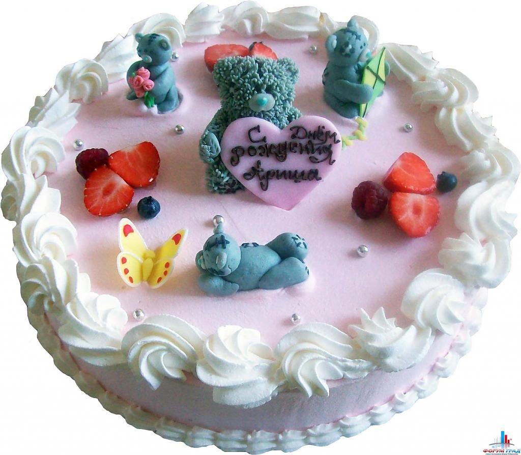 Детский торт на заказ из сливок