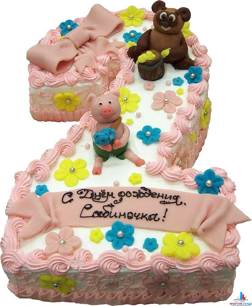 Торт на день рождения девочке 2 года своими руками