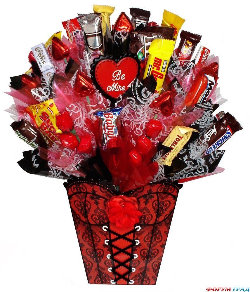 Подарок из шоколадных конфет