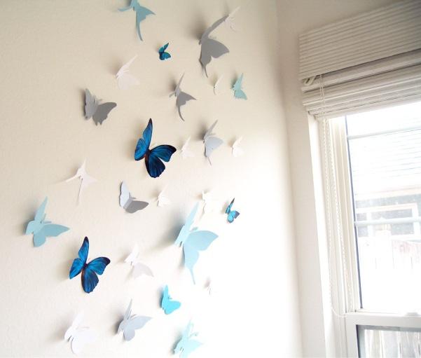 Бабочки объемные своими руками для декора