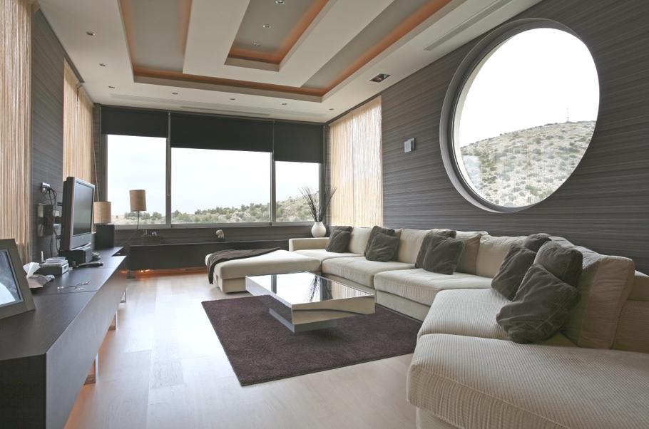Частный особняк Oikia Panorama Voulas в Афинах   luxury villa athens greece 07