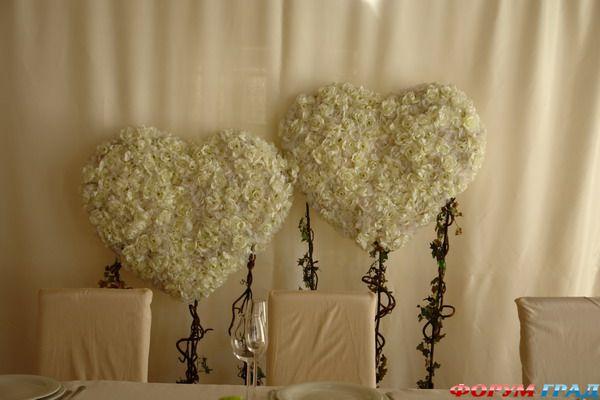 Украшение зала для свадьбы своими руками сердце7