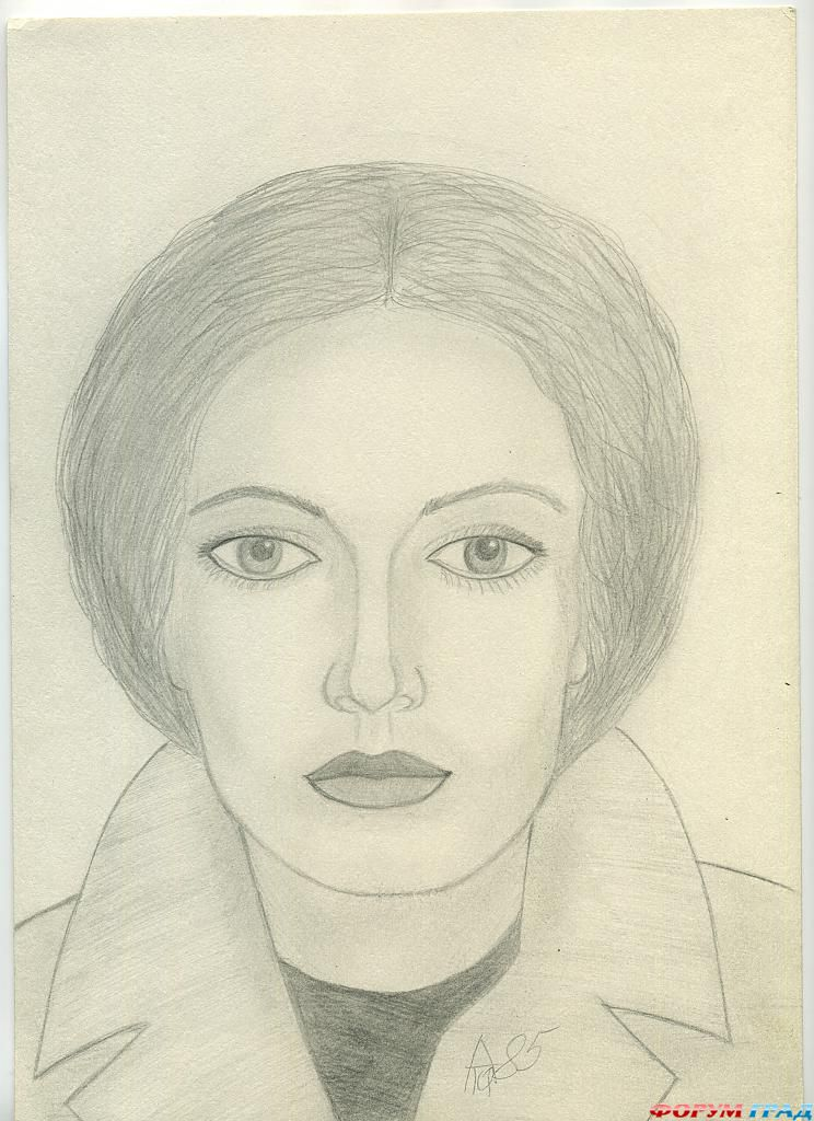 Ольга рисунок карандашом
