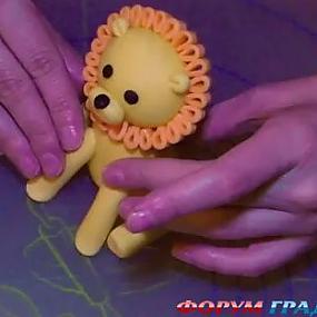 Как сделать гриву львенку из мастики