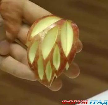 Как сделать розочку из яблока для украшения 94