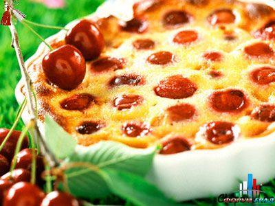 Вкусный необычный торт с вишнями