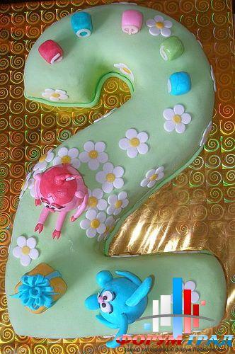Торт в виде двойки своими руками