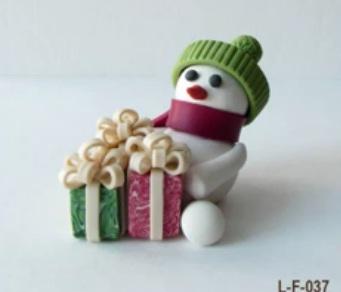 Снеговик из мастики - Лепку из мастики изучаем, торты свои