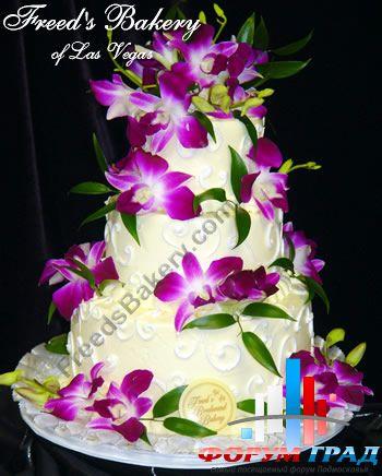 Из живых цветов про свадебные торты