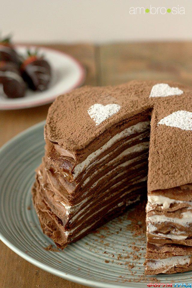 Рецепт сладкого торта из блинов