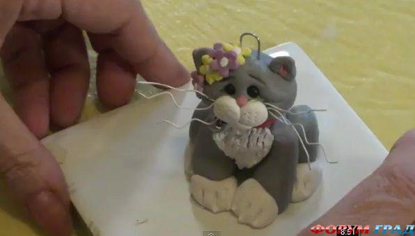 Котенок из мастики своими руками 35