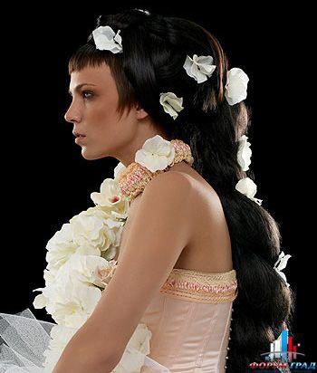 Самые классные свадебные прически на длинные волосы.