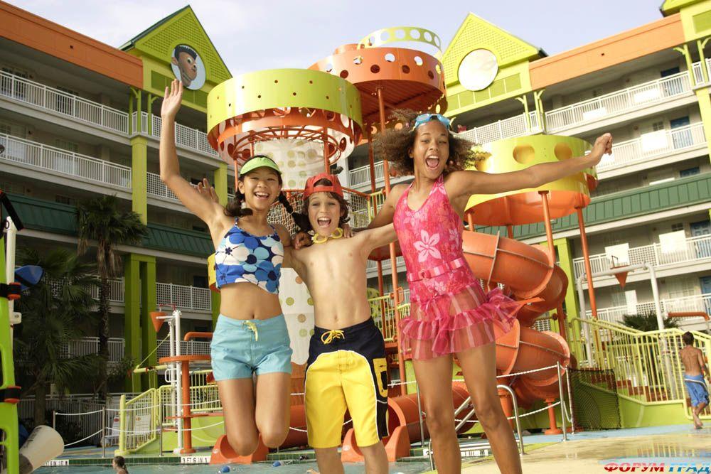 В отеле Nickelodeon Suites Resort