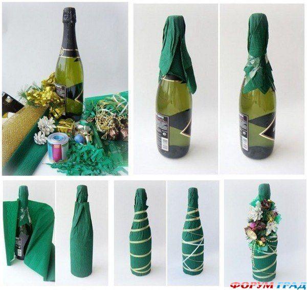 Идеи украшения бутылок своими руками фото