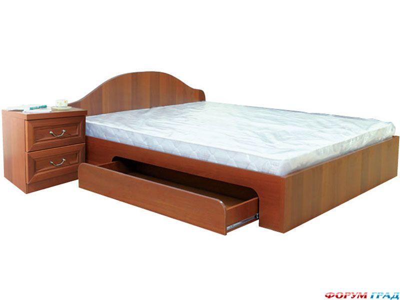 Кровать с выдвижными ящиками для хранения