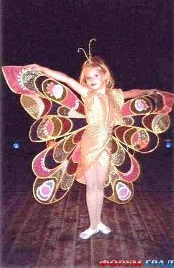 Мне костюм бабочки с одной стороны
