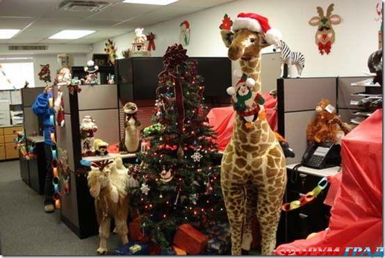 Украшение офиса на новый год своими руками