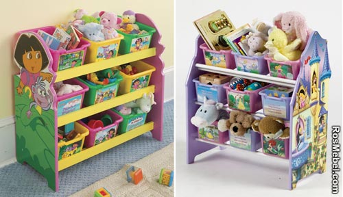 Детские полки для игрушек фото