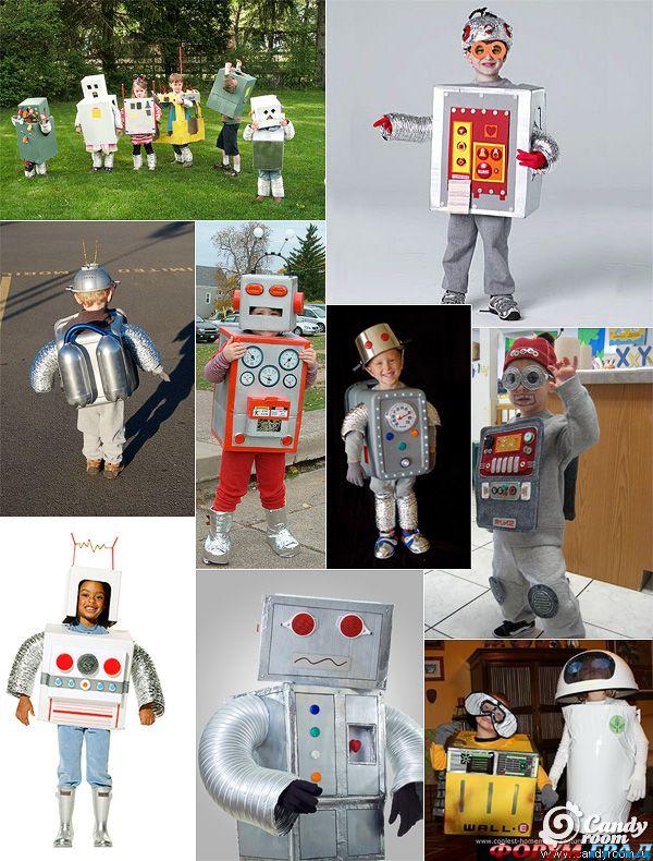 Новогодние костюмы своими руками робот фото