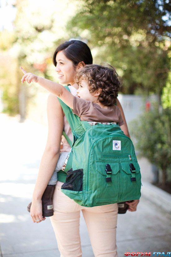 Эрго рюкзак за спиной