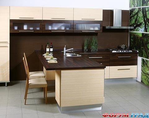 Обеденная зона на кухне дизайн