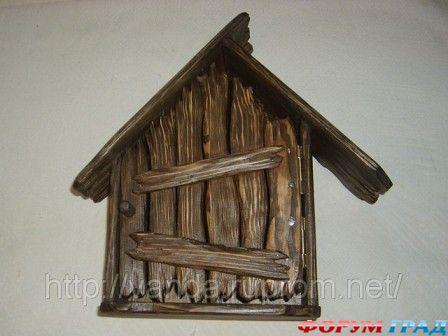 Почтовый ящик из дерева под старину своими руками