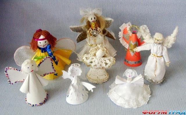 Ангелочек на рождество своими руками фото