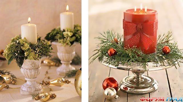 Как сделать свечу в виде елки