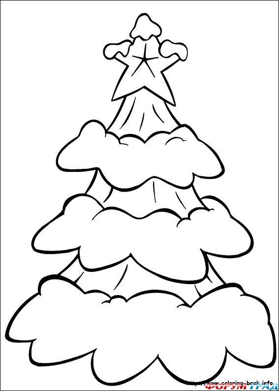 Раскраска елочка для малышей - 2