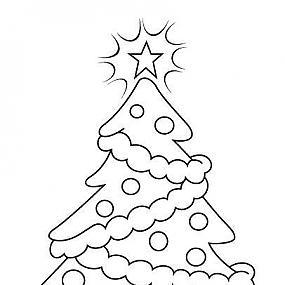 Раскраска новогодняя елочка - Фото-Град