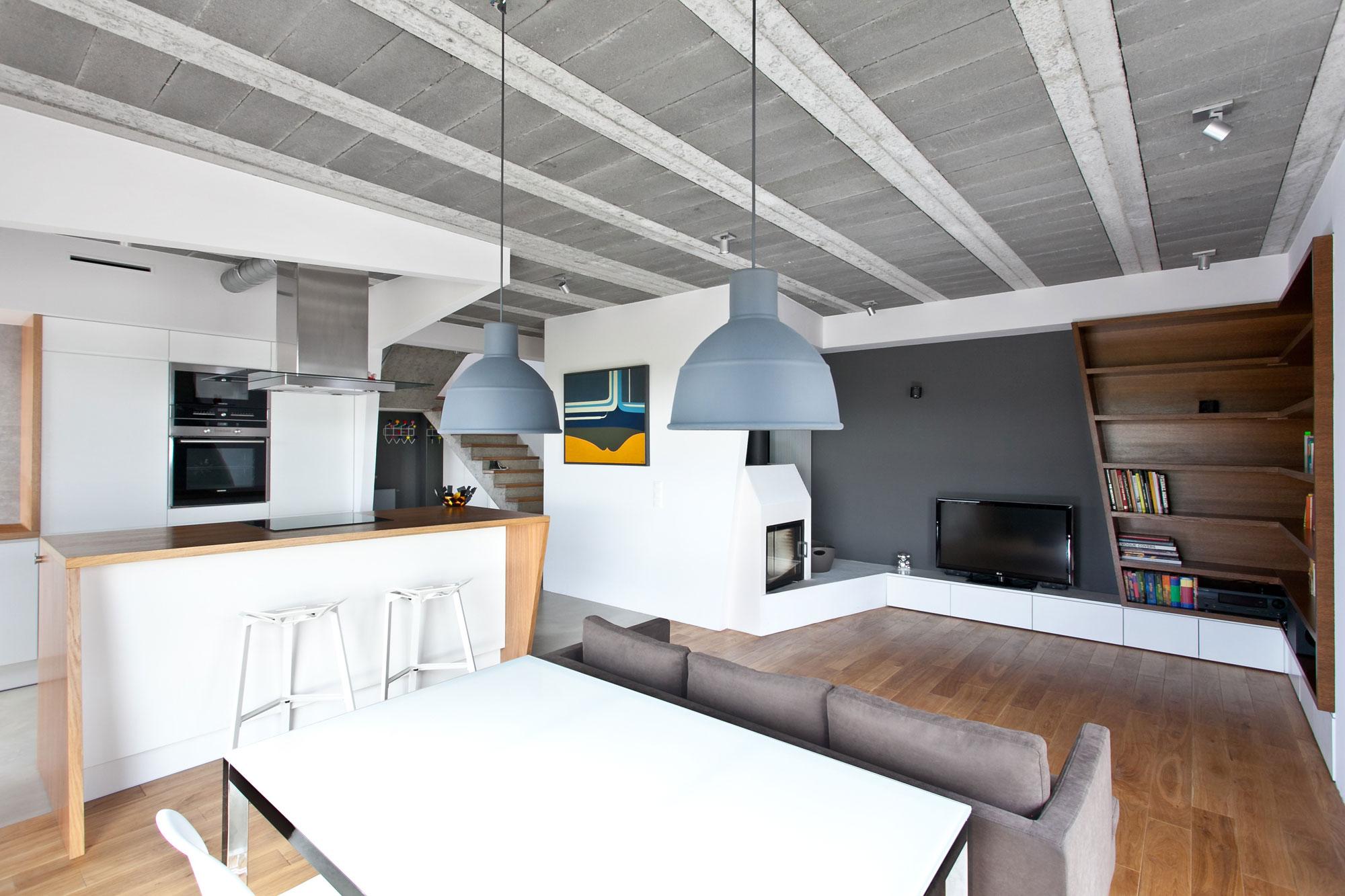 Оригинальный «геометрический» дизайн загородного дома