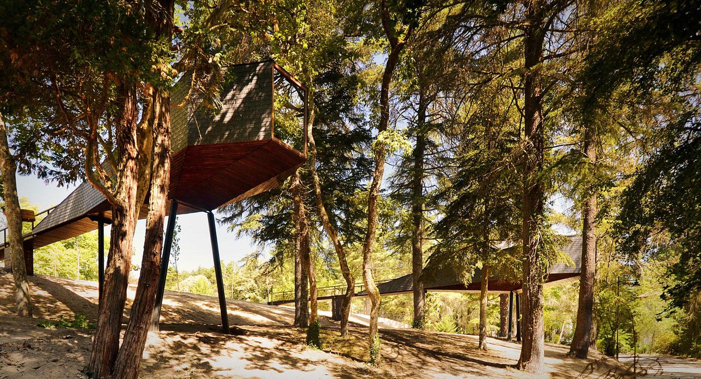 Проект длинного дома на сваях: невероятная конструкция Tree Snake Houses от португальских архитекторов