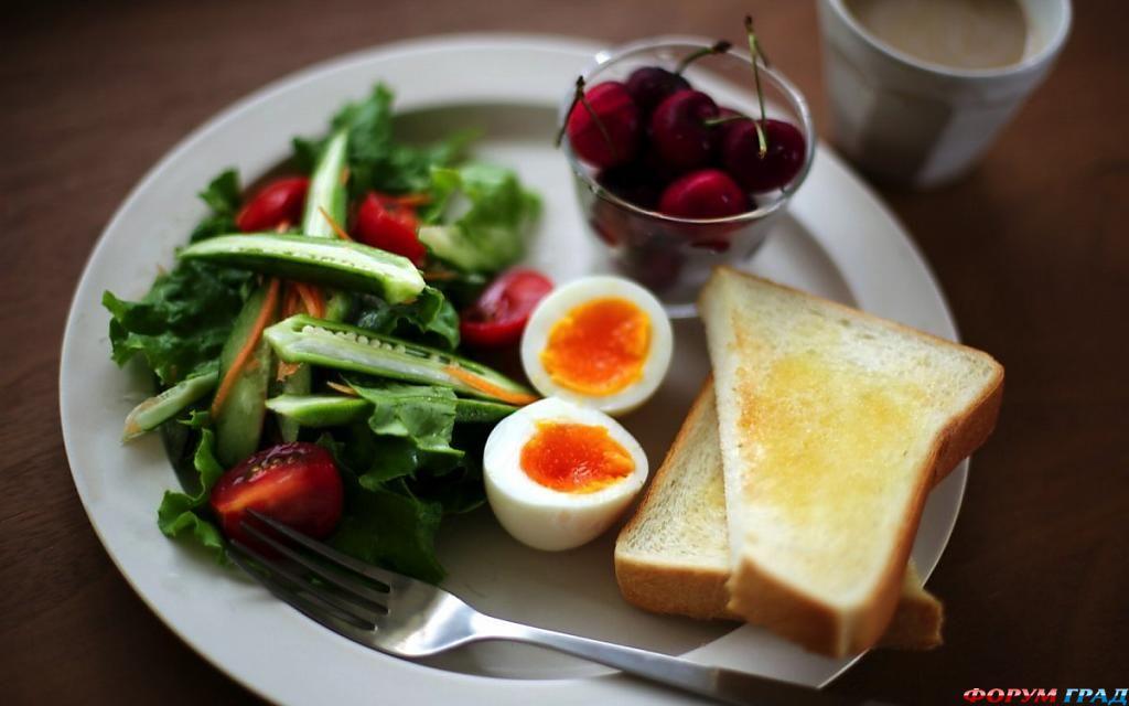 завтраки фото
