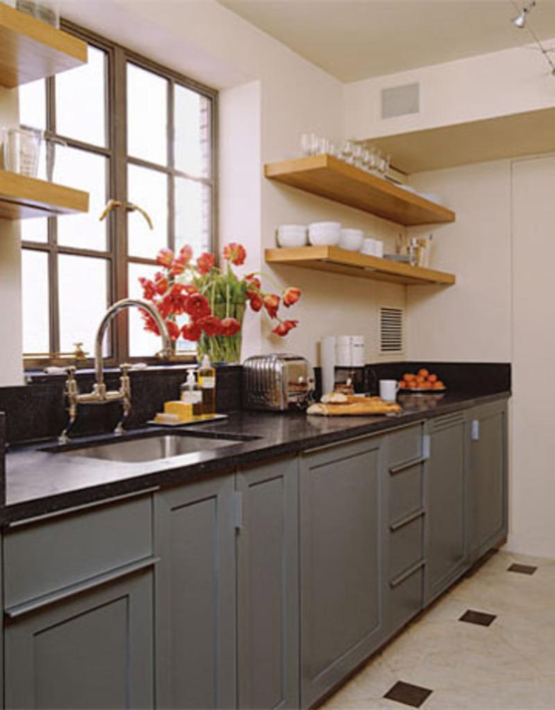 Дизайн полок на кухню