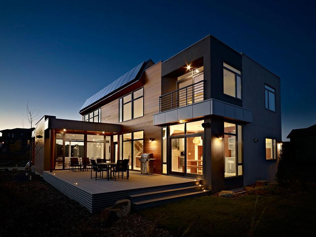 Замечательный дизайн энергонезависимого дома