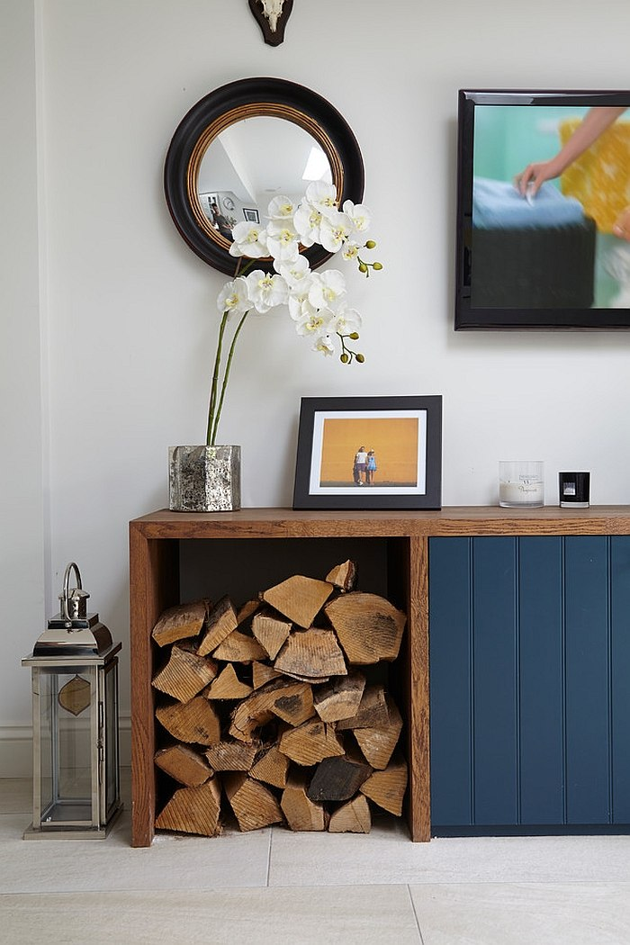 garage wood stove ideas - Тридцать невероятных и толковых идей хранения дров