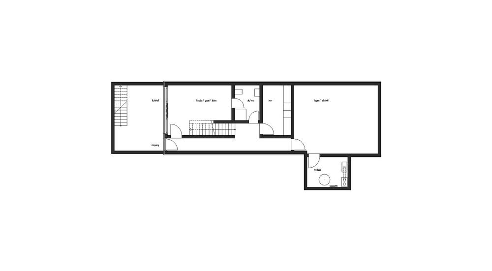House P. План первого этажа