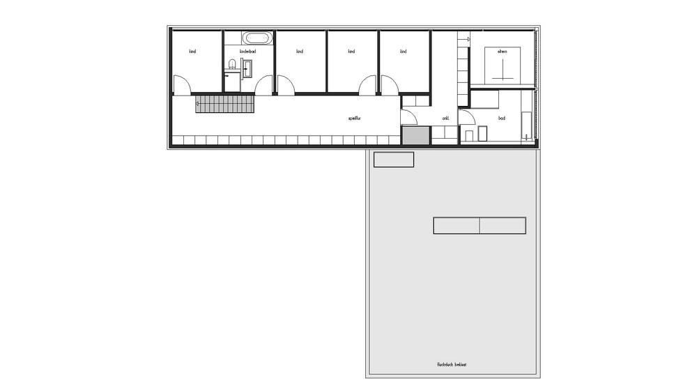 House P. План второго этажа