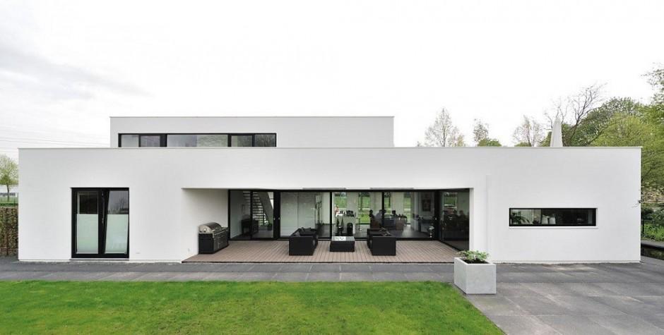 Проекты голландских домов: современный Bemmel Residence с бассейном