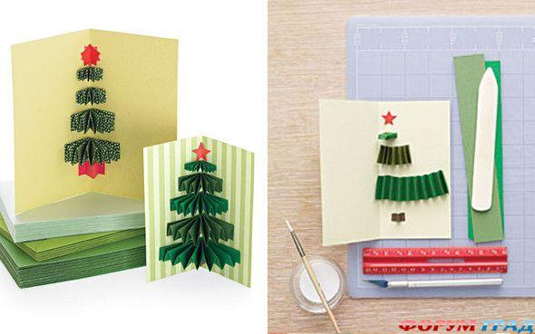 Как сделать красивую открытку на новый год своими руками поэтапно